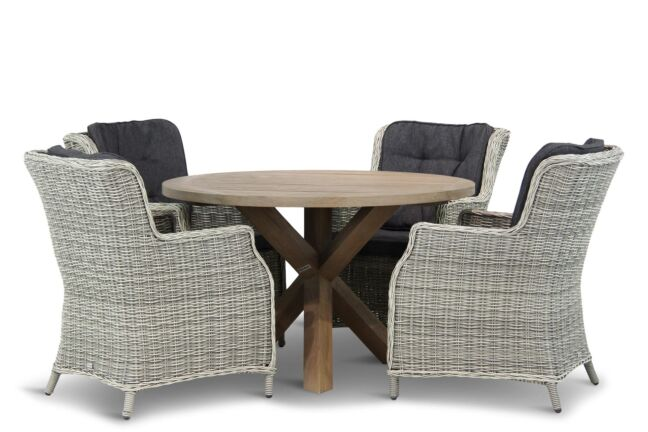 Garden Collections Vita/Sand City rond 120 cm dining tuinset 5-delig