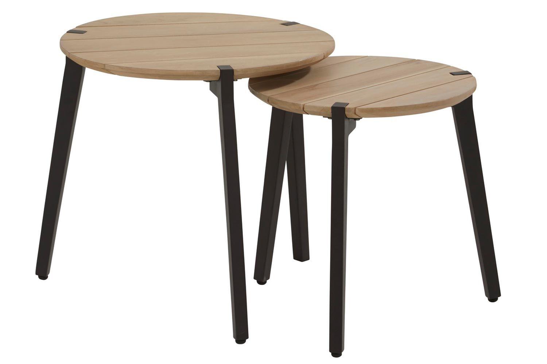 4 Seasons Outdoor Gabor coffee table teak 45 cm ø Alu legs (H 45 cm)
