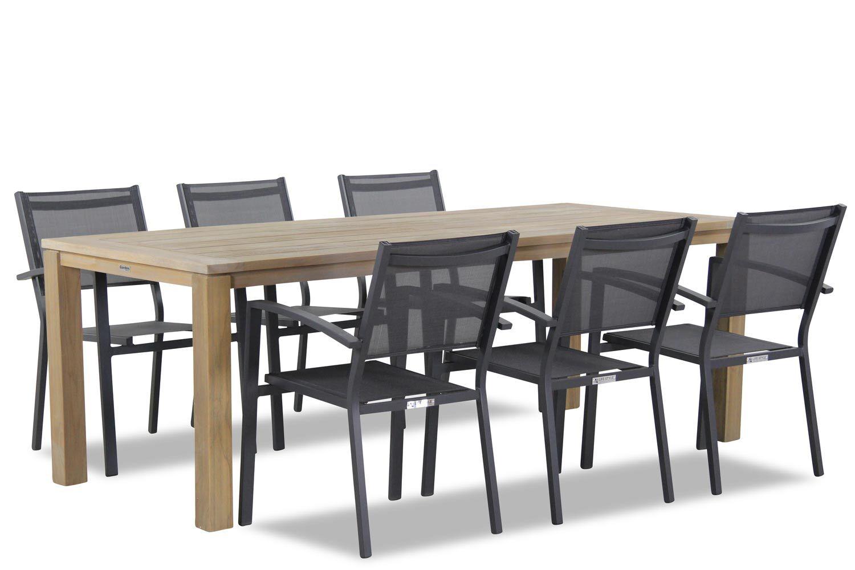 Lifestyle Amarilla/Bristol 220 cm dining tuinset 7-delig stapelbaar