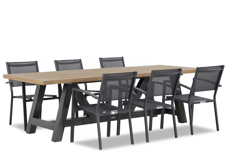 Lifestyle Amarilla/Trente 260 cm dining tuinset 7-delig stapelbaar