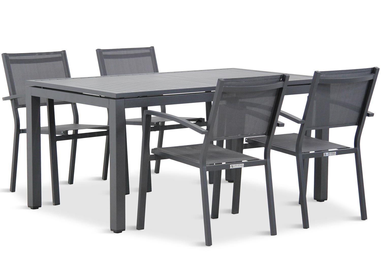 Lifestyle Amarilla/Concept 160 cm dining tuinset 5-delig stapelbaar