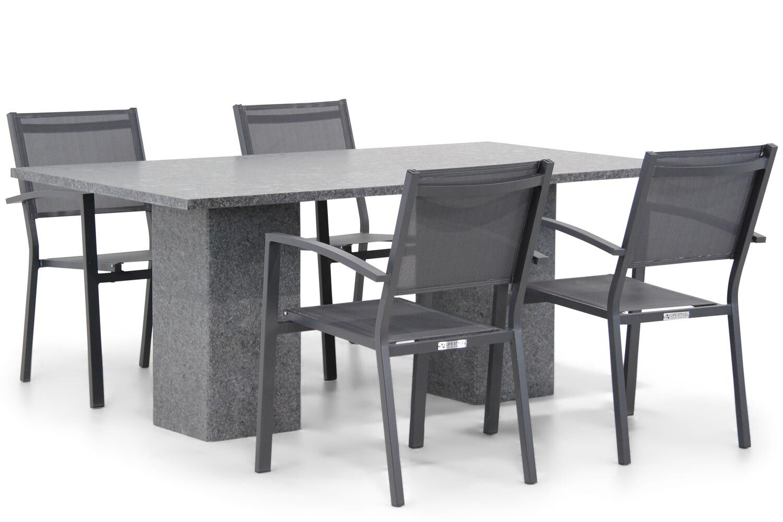 Lifestyle Amarilla/Graniet 180 cm dining tuinset 5-delig stapelbaar