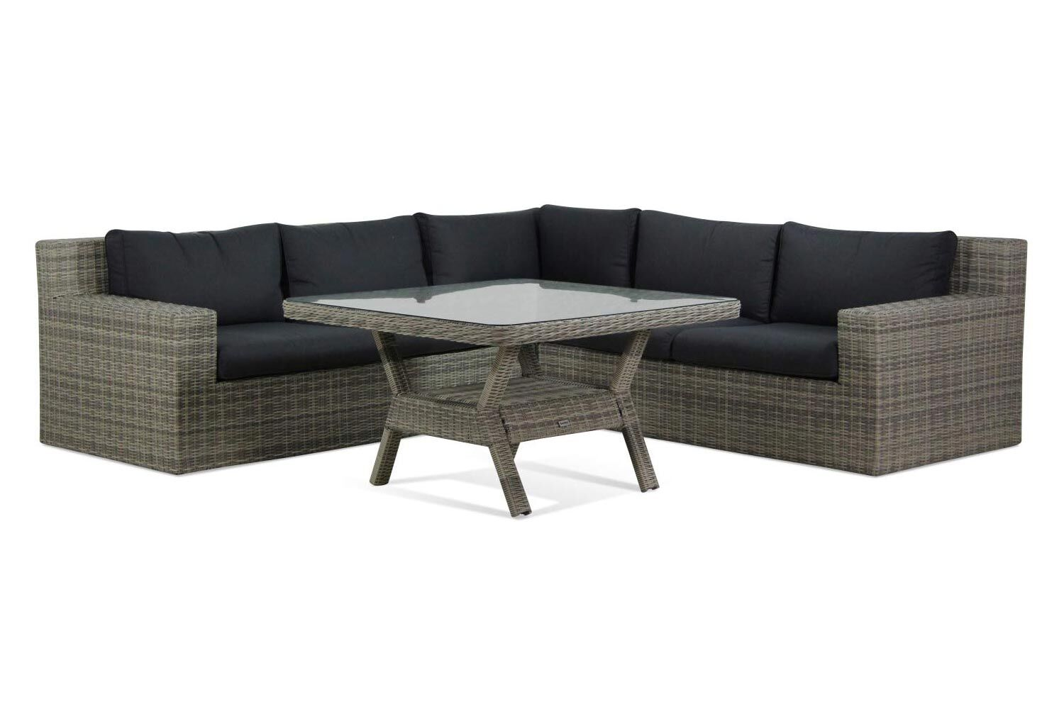 Garden Collections Amico/Napoli dining loungeset 4-delig