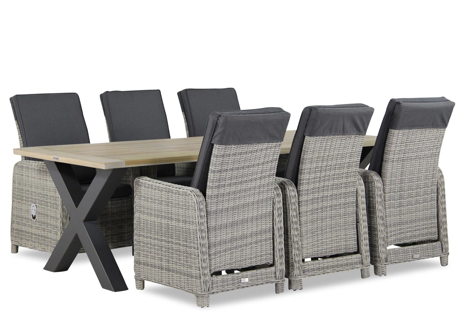 Garden Collections Bello/Cardiff 240 cm dining set 7-delig