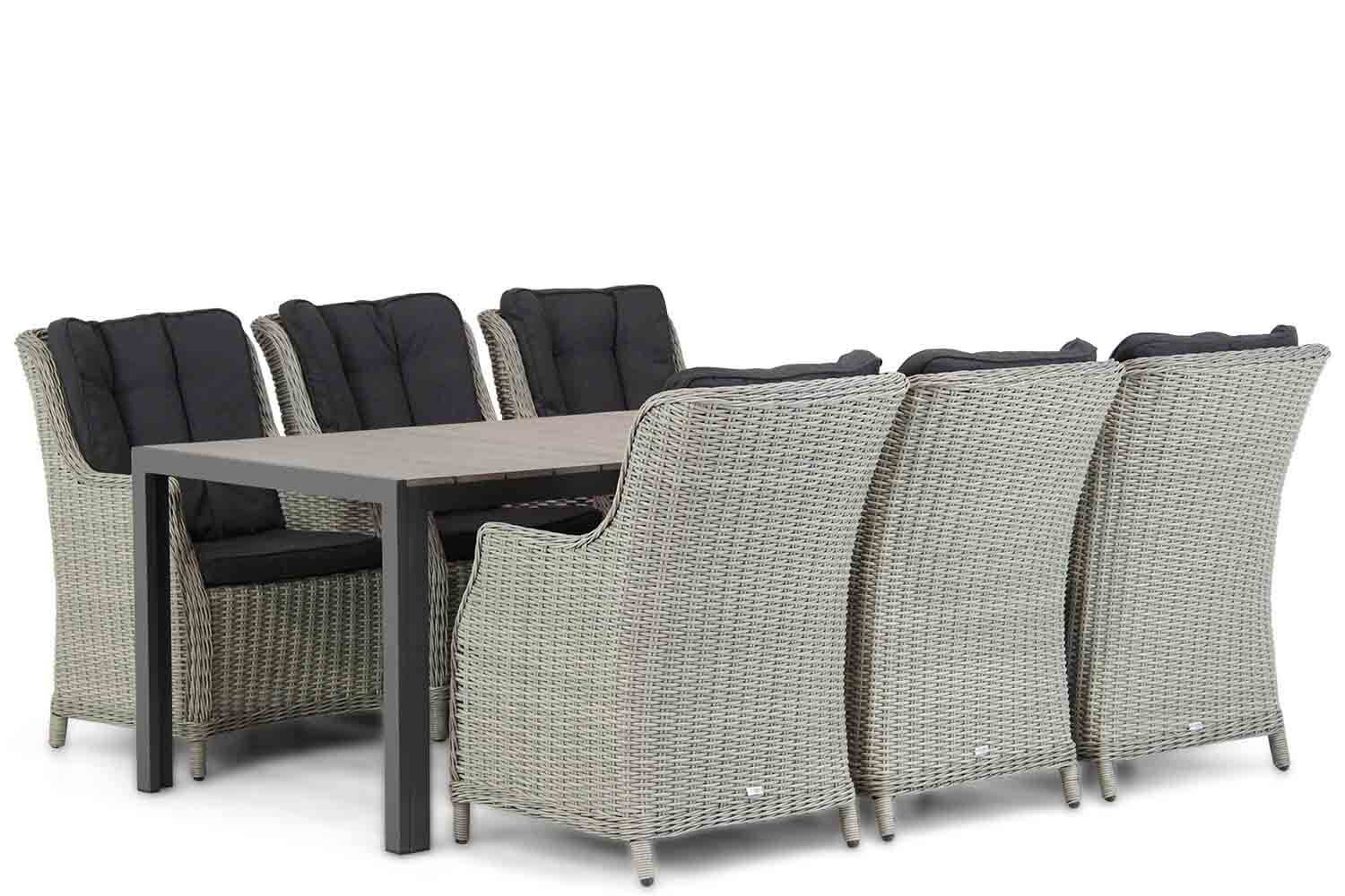 Garden Collections Buckingham/Young 217 cm dining tuinset 7-delig
