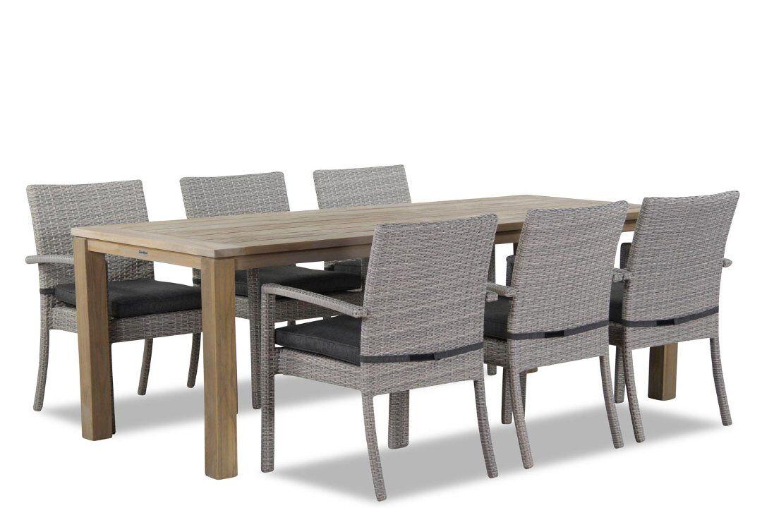 Domani Solarino/Bristol 220 cm dining tuinset 7-delig stapelbaar