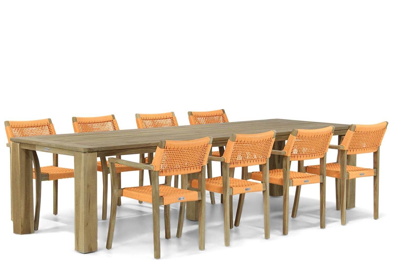 Lifestyle Dallas/Brighton 300 cm dining tuinset 9-delig