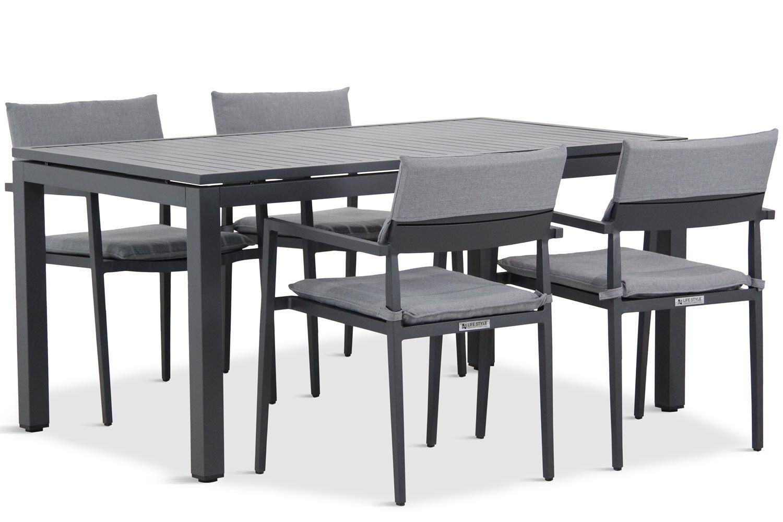 Lifestyle Dego/Concept 160 cm dining tuinset 5-delig stapelbaar