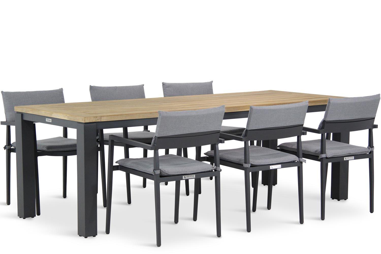 Lifestyle Dego/Veneto 230 cm dining tuinset 7-delig stapelbaar
