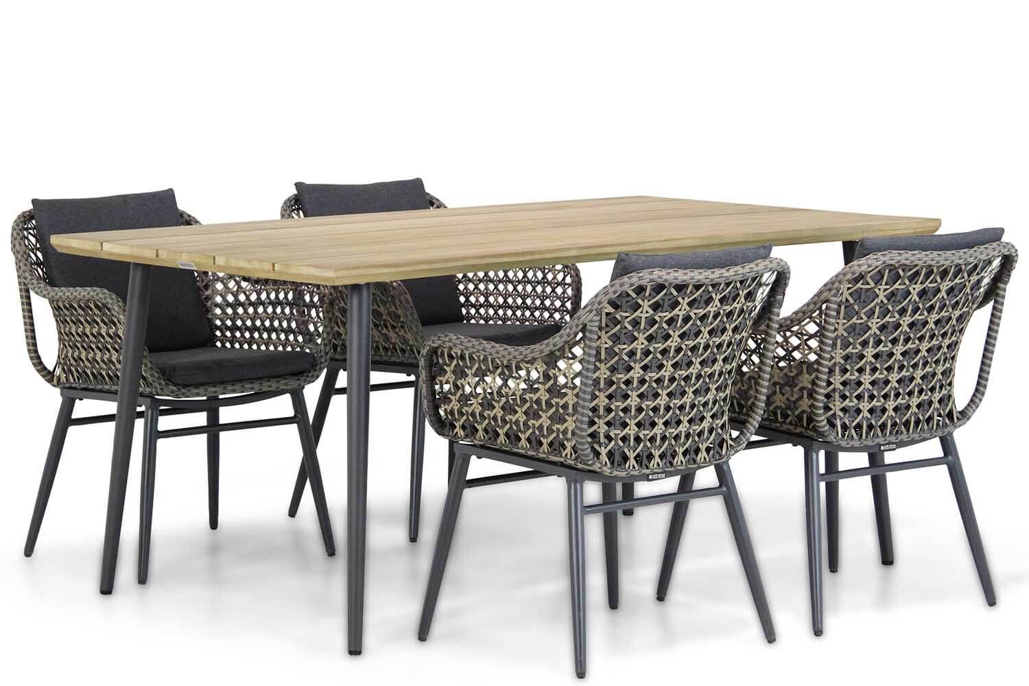 Lifestyle Dolphin/Montana 180 cm dining tuinset 5-delig