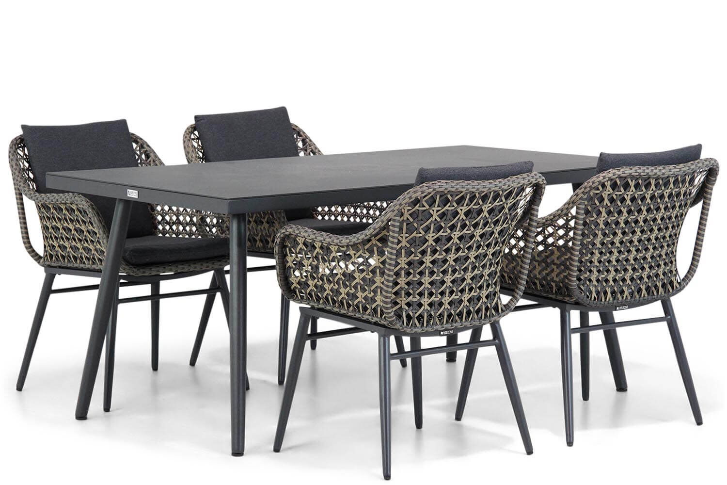 Lifestyle Dolphin/Valencia 170 cm dining tuinset 5-delig