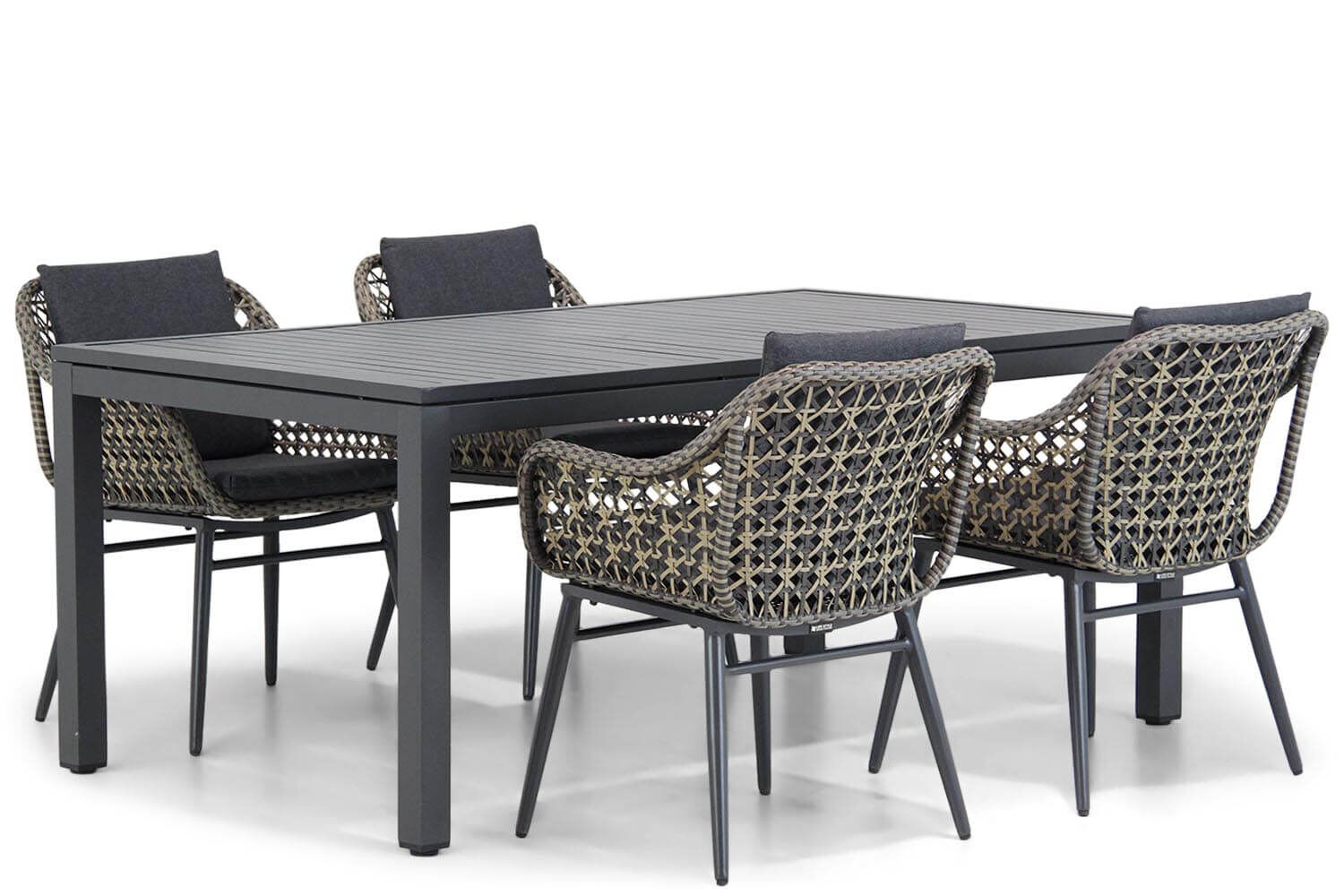 Lifestyle Dolphin/Concept 180 cm dining tuinset 5-delig