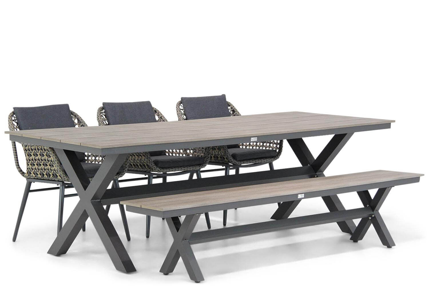 Lifestyle Dolphin/Forest 240 cm dining tuinset 5-delig