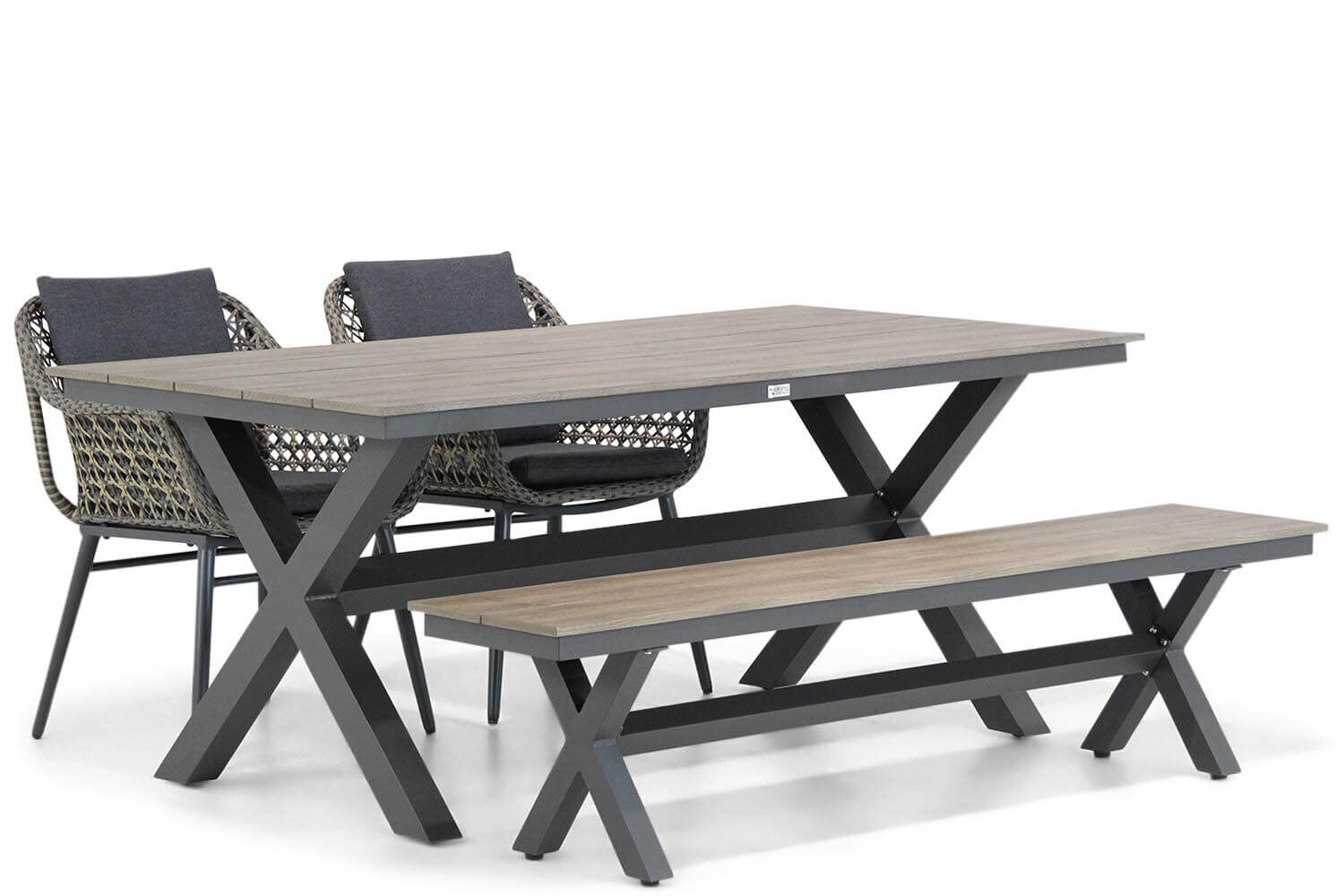 Lifestyle Dolphin/Forest 180 cm dining tuinset 4-delig