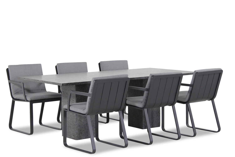 Lifestyle Estancia/Graniet 220 cm dining tuinset 7-delig