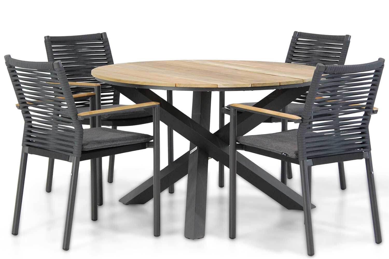Santika Giovane/Fabriano 120 cm dining tuinset 5-delig