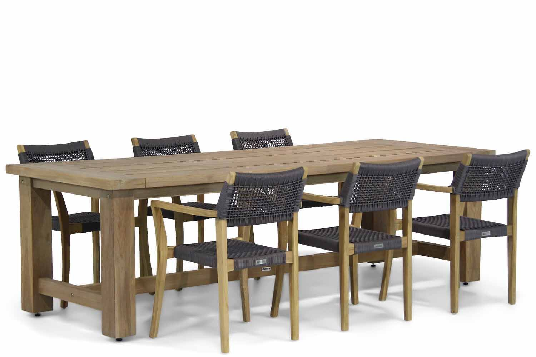 Lifestyle Dallas/Fourmile 260 cm dining tuinset 7-delig
