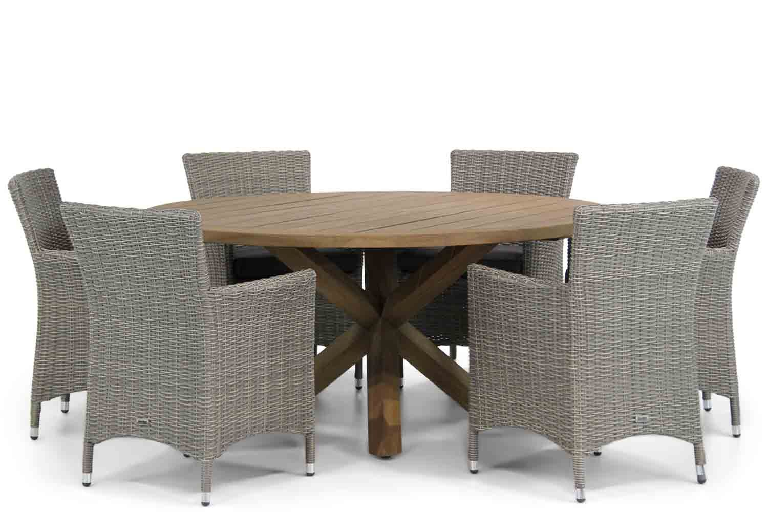 Garden Collections Dublin/Sand City 160 cm dining tuinset 7-delig