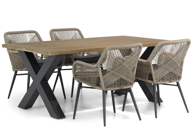 Lifestyle Advance/Cardiff 180 cm dining tuinset 5-delig