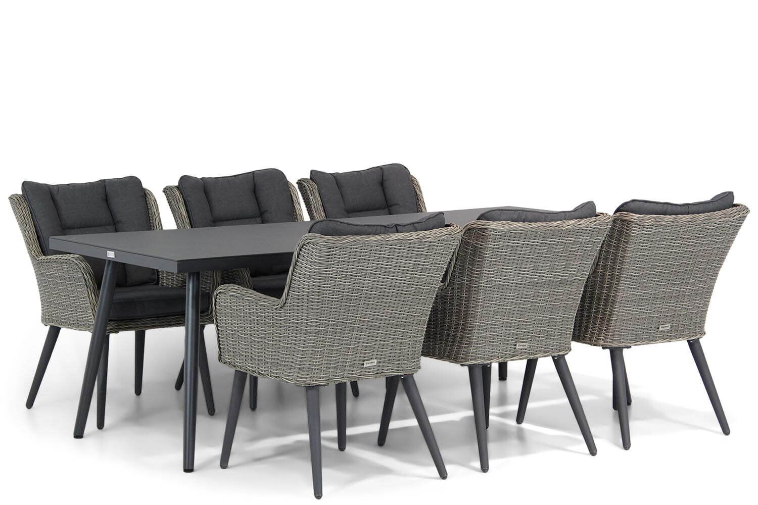 Garden Collections Boston/Valencia 220 cm dining tuinset 7-delig