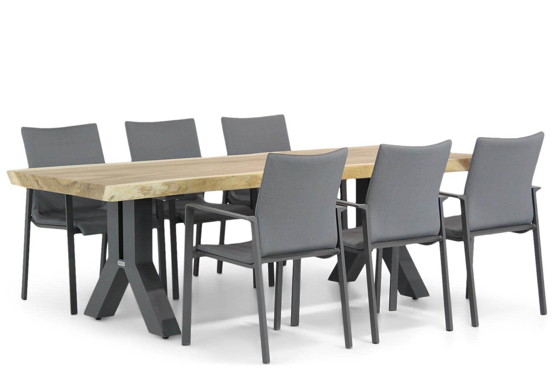 Lifestyle Rome/Woodside 240 cm dining tuinset 7-delig