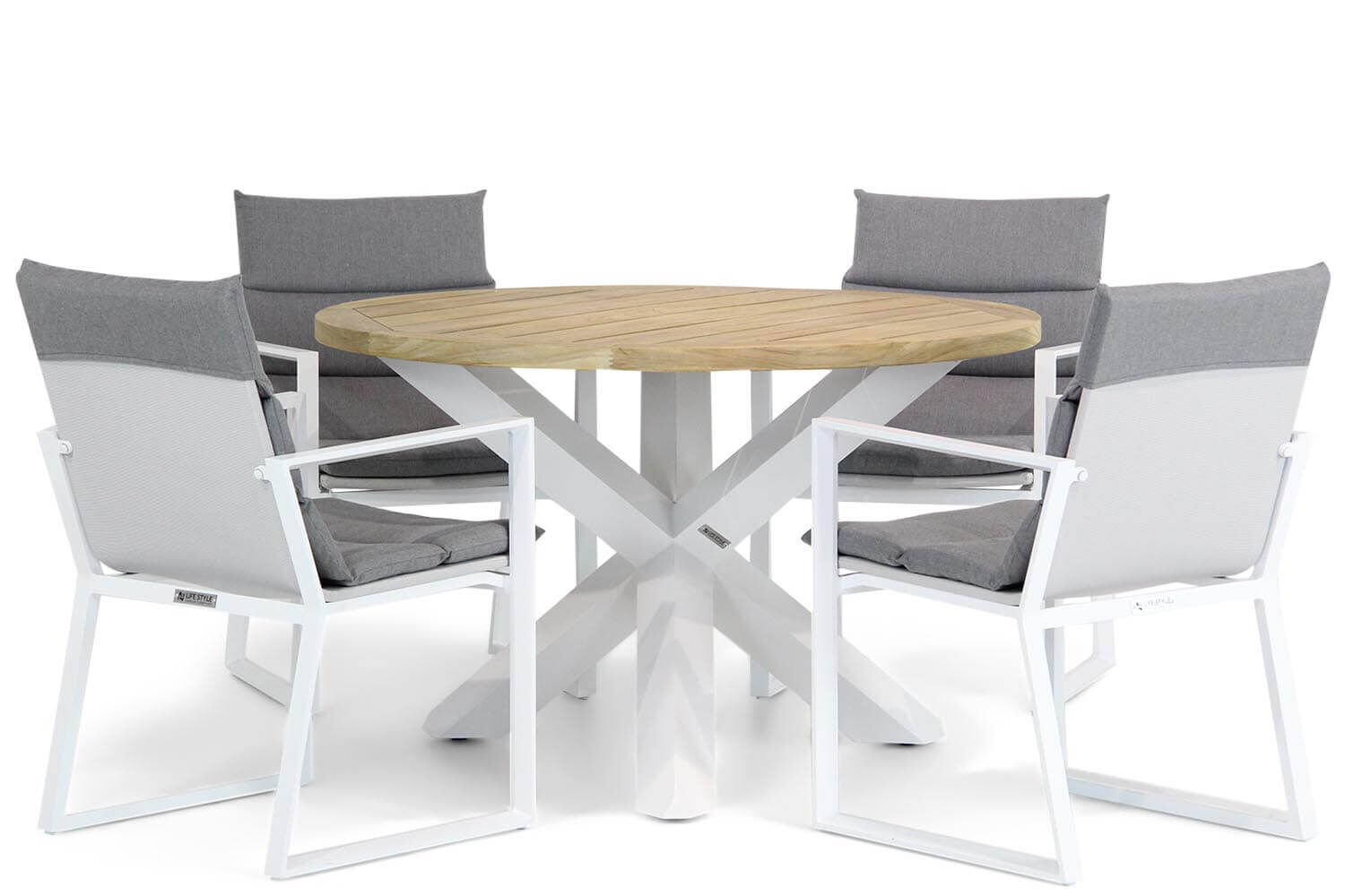 Lifestyle Treviso/Wellington 120 cm rond dining tuinset 5-delig