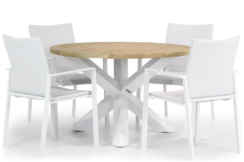 Lifestyle Rome/Wellington 120 cm rond dining tuinset 5-delig