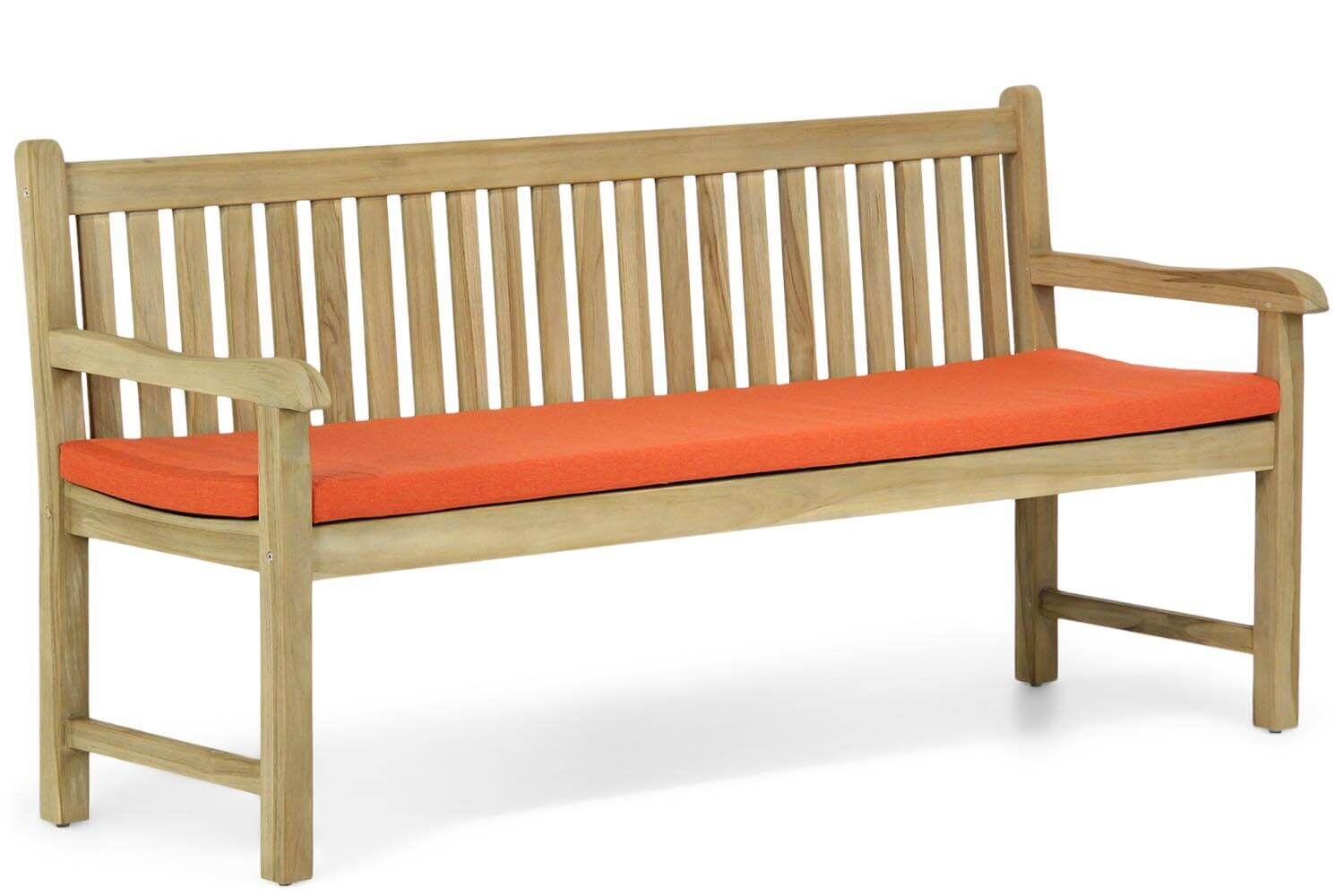 Garden Collections Preston tuinbank teak 180 cm incl. orange kussen