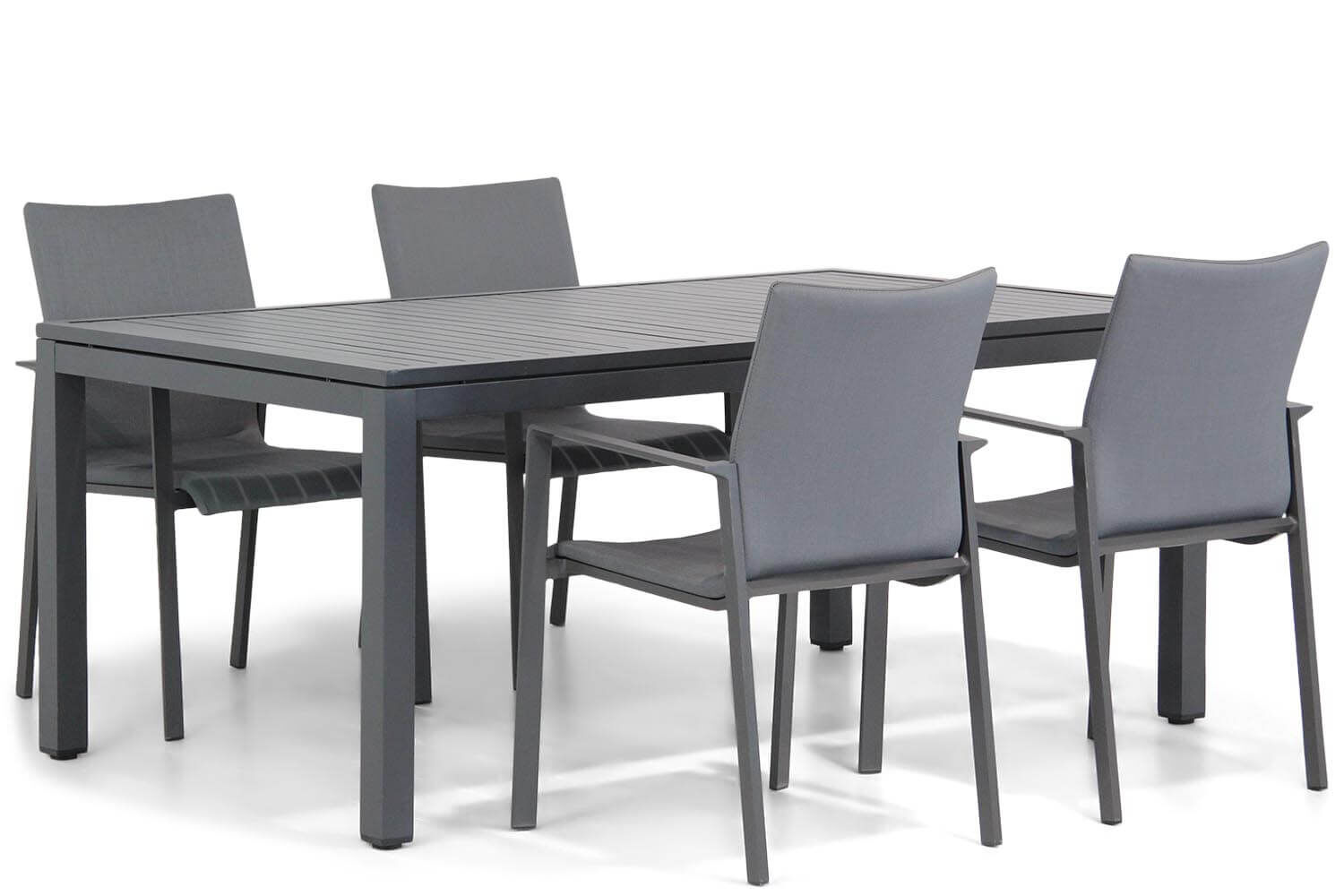 Lifestyle Rome/Concept 160 cm dining tuinset 5-delig
