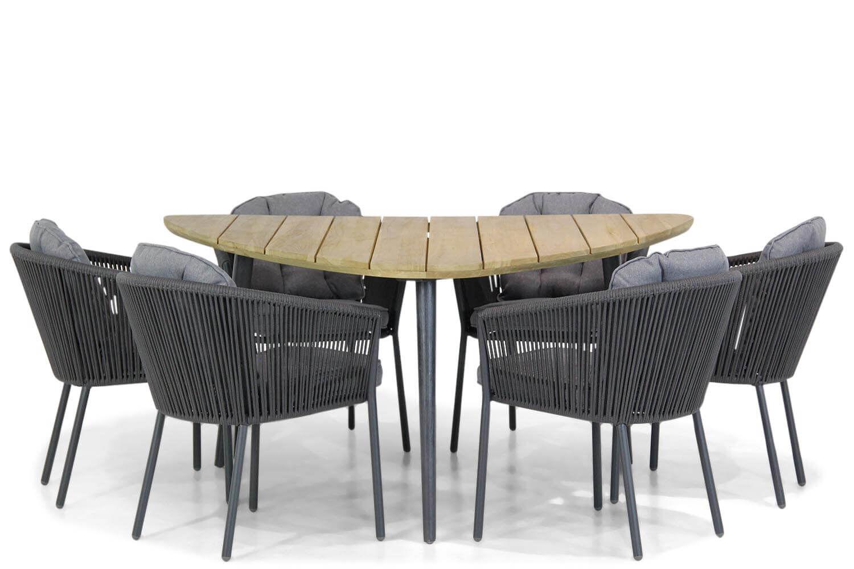 Santika Novita/Julia 155 cm triangel dining tuinset 7-delig