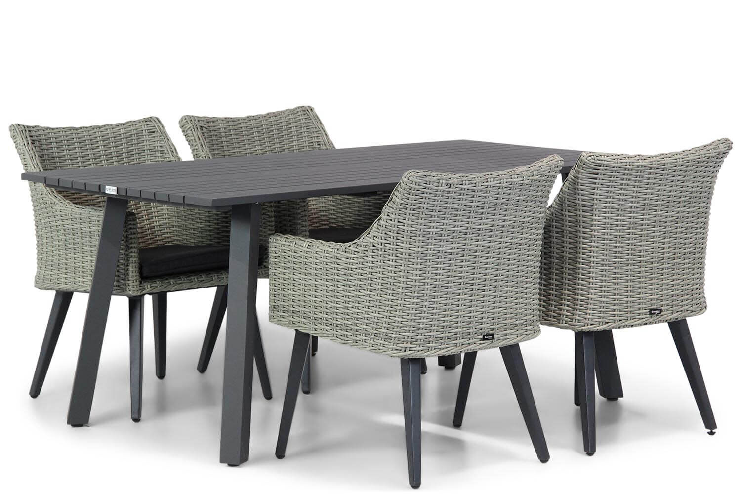 Garden Collections Milton/Villagio 170 cm dining tuinset 5-delig