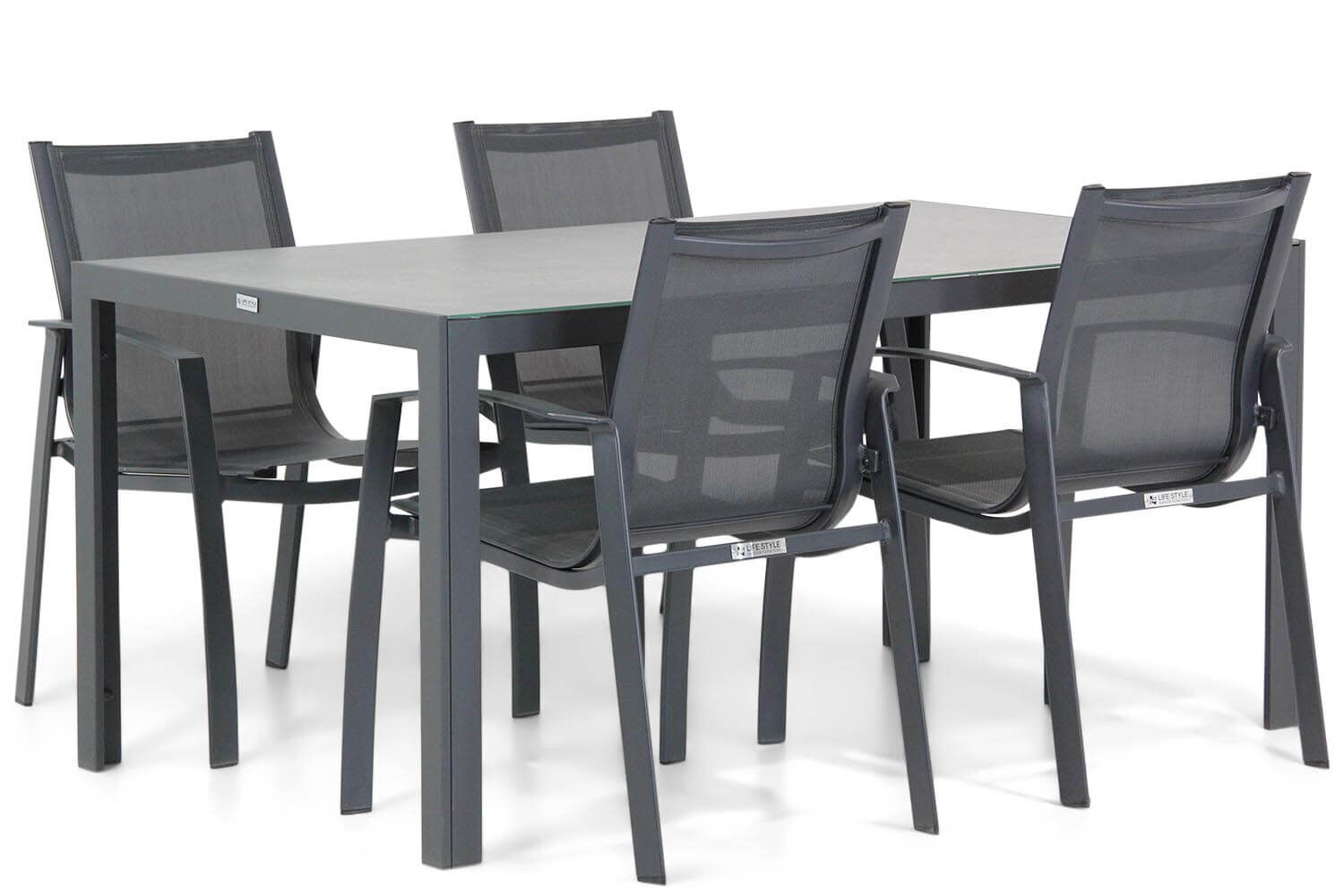 Lifestyle Gregorio/Varano 160 cm dining tuinset 5-delig