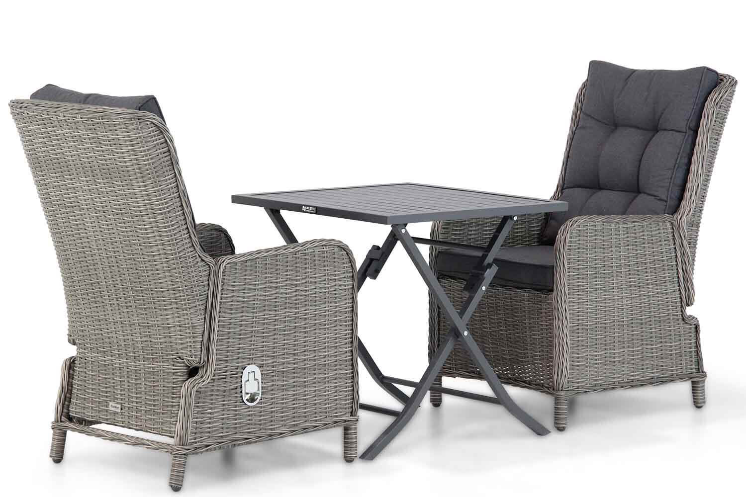 Garden Collections Kingston/Nicola 70 cm dining tuinset 3-delig