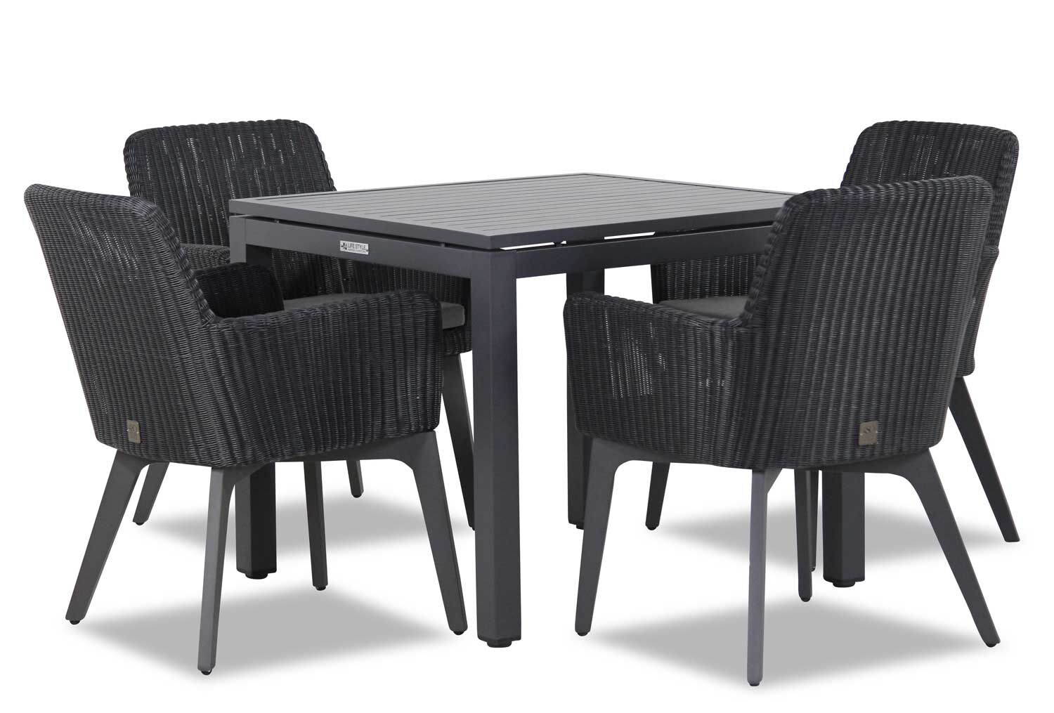 4 Seasons Outdoor Lisboa/Concept 90 cm dining tuinset 5-delig