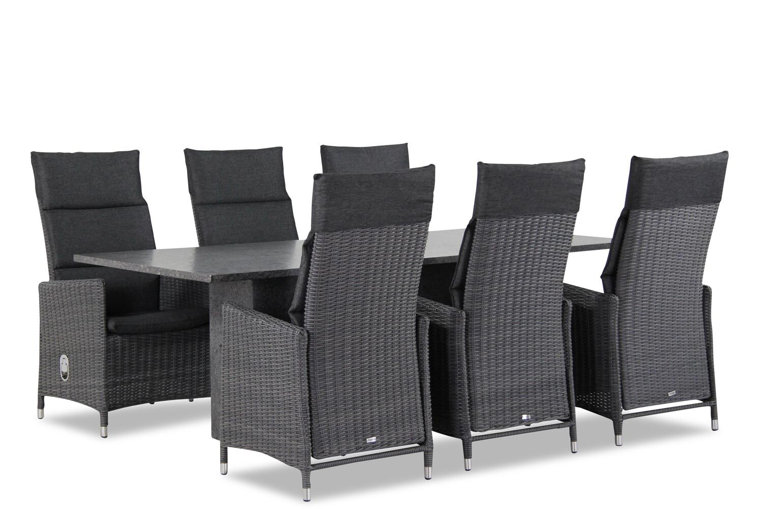 Garden Collections Madera/Graniet 220 cm dining tuinset 7-delig