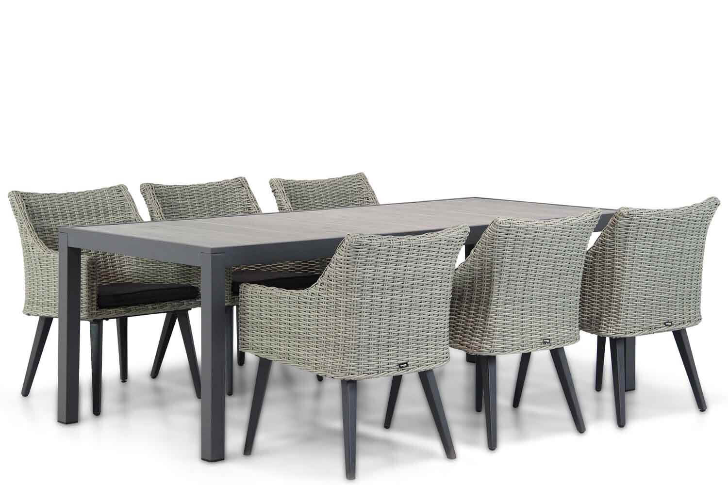 Garden Collections Milton/Residence 220 cm dining tuinset 7-delig