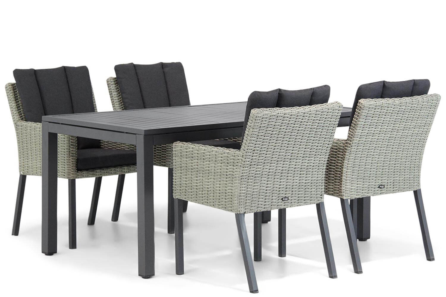 Garden Collections Oxbow/Concept 160 cm dining tuinset 5-delig