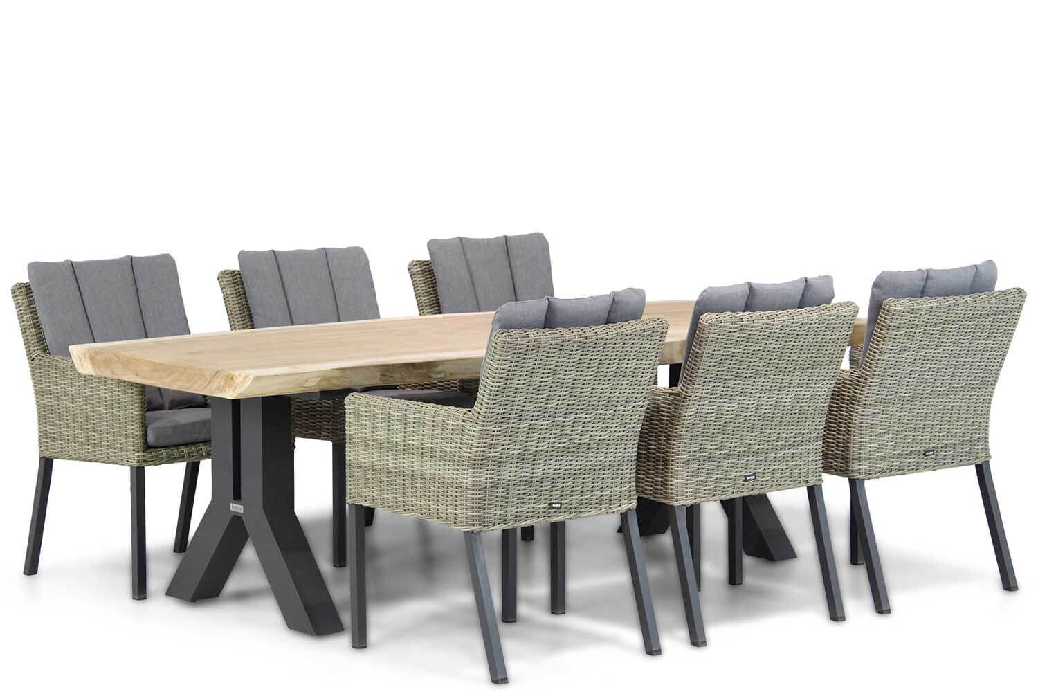 Garden Collections Oxbow/Woodside 240 cm dining tuinset 7-delig