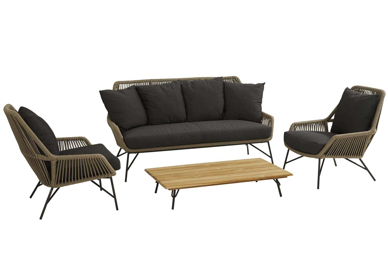 4 Seasons Outdoor Ramblas/Cucina stoel-bank loungeset 4-delig