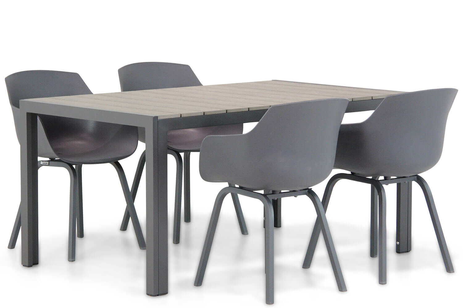 Lifestyle Salina/Young 155cm dining tuinset 5-delig