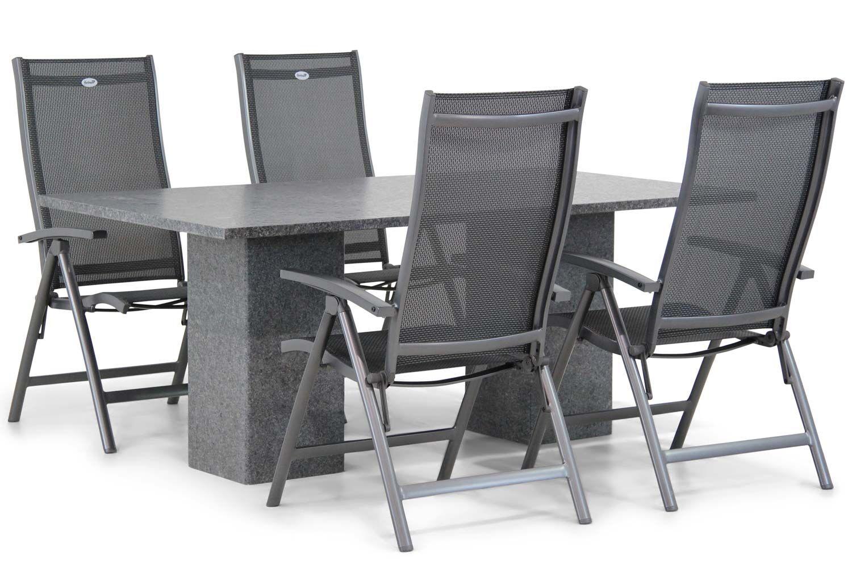 Hartman Salvatore/Graniet 180 cm dining tuinset 5-delig