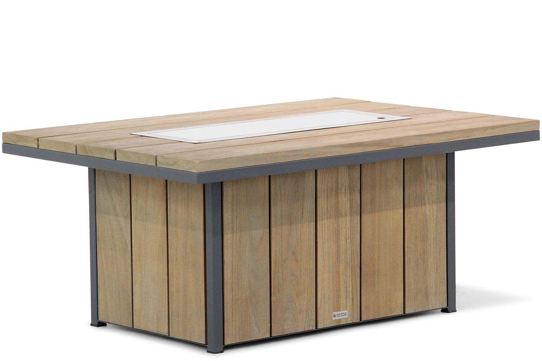 Lifestyle Seaside teak lounge vuurtafel 120 x 80 cm Part 1/2: