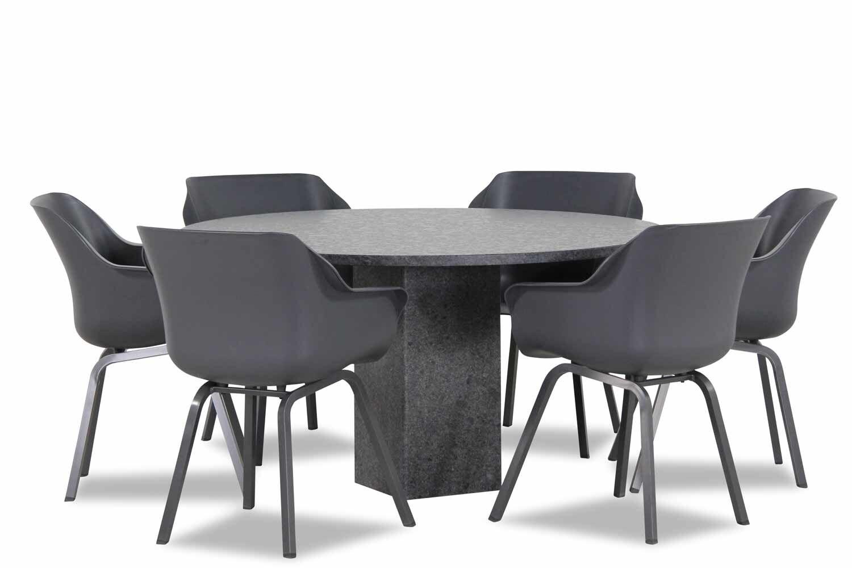 Hartman Sophie element/Graniet rond 140 cm dining tuinset 7-delig