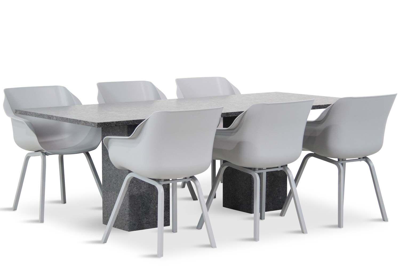 Hartman Sophie element/Graniet 220 cm dining tuinset 7-delig
