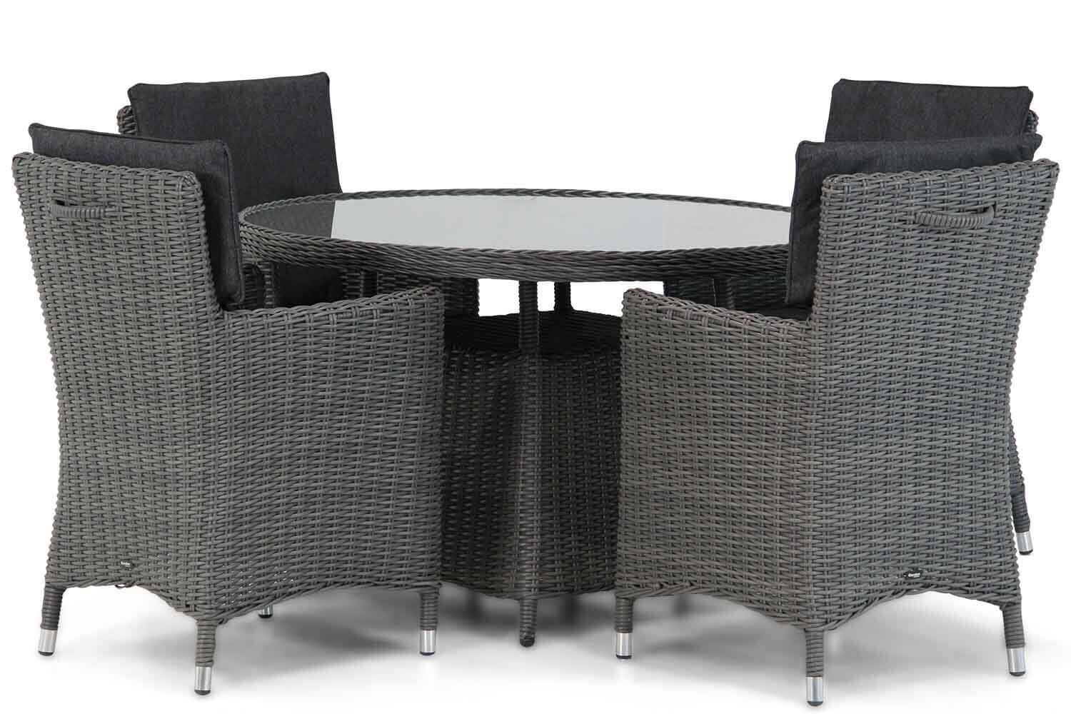 Garden Collections Springfield/Buckingham 115 cm rond dining tuinset 5-delig