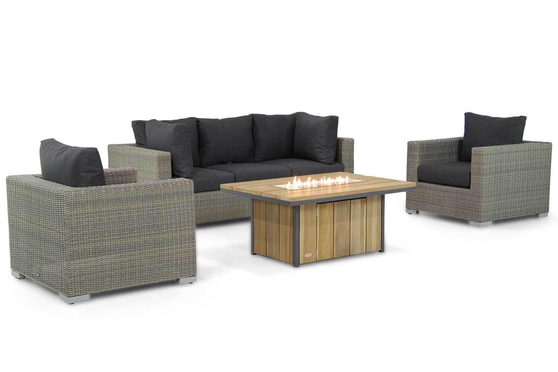 Garden Collections Toronto/Seaside 120 cm stoel-bank loungeset 4-delig