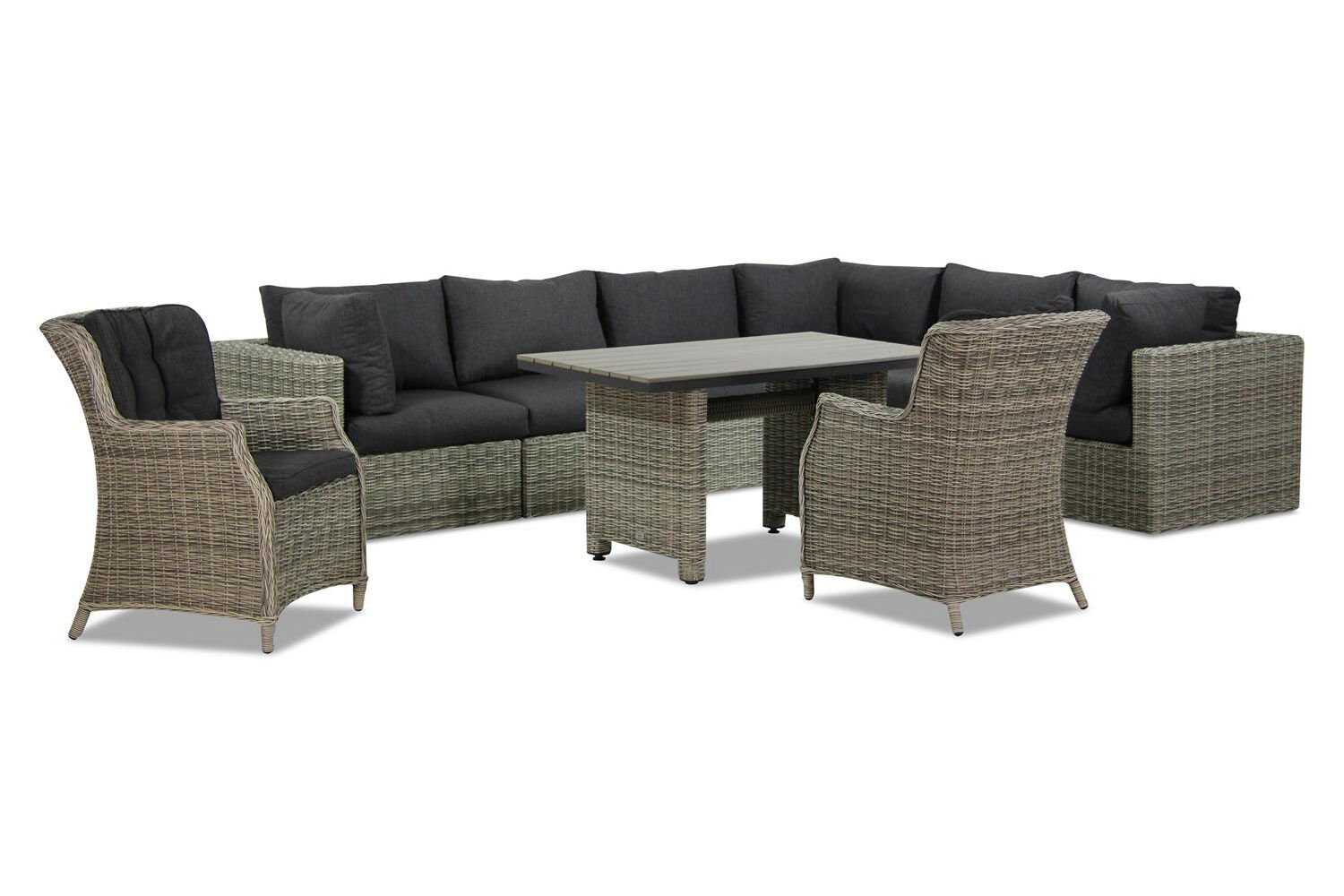 Garden Collections Comodo/Lusso dining loungeset 9-delig