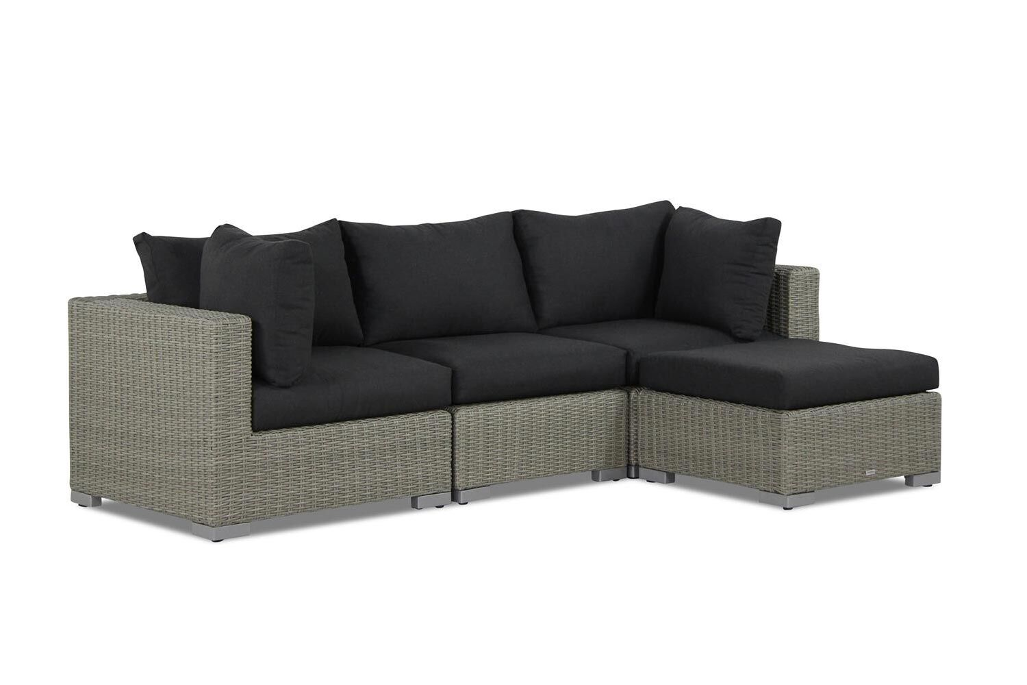 Garden Collections Toronto chaise longue loungeset 4-delig