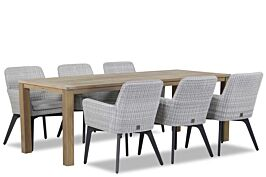 4 Seasons Outdoor Lisboa/Bristol 220 cm dining set 7-delig