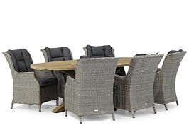 Garden Collections Aberdeen/Boston 240 cm ovaal dining tuinset 7-delig